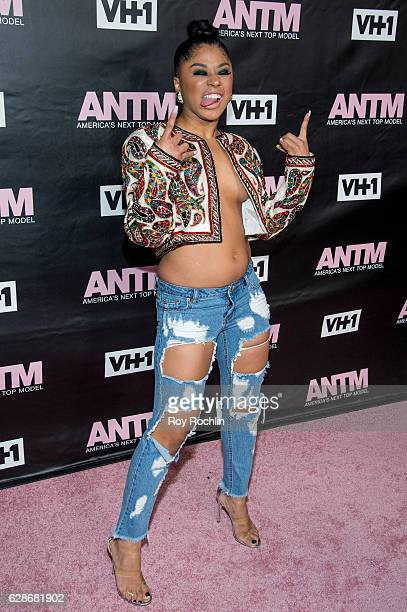 Hennessy attends VH1's 'America's Next Top Model' Premiere at Vandal on December 8 2016 in New York City
