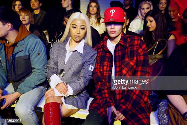 Hennessy Carolina and Michelle Nell attend Dirty Pineapple front row during New York Fashion Week The Shows on February 09 2019 in New York City