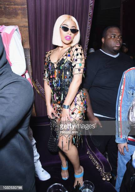 Hennessy Carolina attends NYLON's Annual Rebel Fashion Party at Gramercy Park Hotel Rose Bar at Gramercy Park Hotel on September 12 2018 in New York...