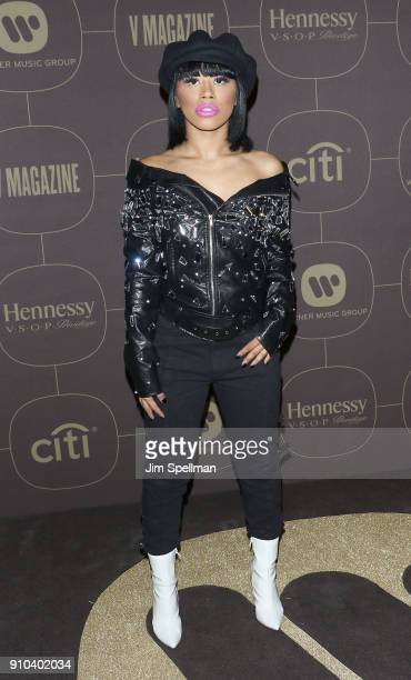 Hennessy Carolina attends the 2018 Warner Music Group Pre Grammy Celebration at The Grill The Pool Restaurants on January 25 2018 in New York City