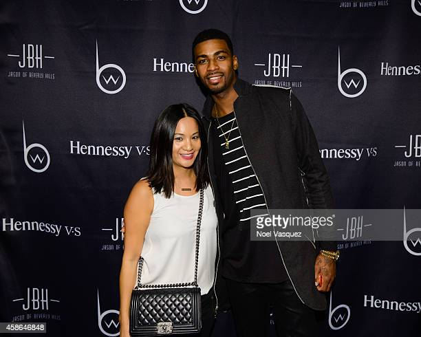 Hennessy West Coast Marketing Manager ThuyAnh J Nguyen and Dorell Wright attend Hennessy VS Presents Brandon Williams' Simple is Perfect Capsule...