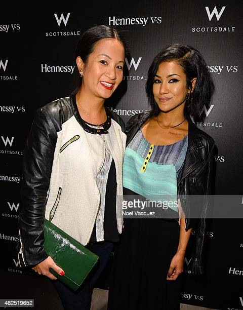 Hennessy West Coast Marketing Manager ThuyAnh J Nguyen and Jhene Aiko attend the Hennessy Lounge At The W Scottsdale at W Scottsdale on January 29...