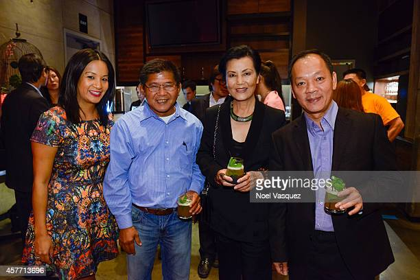 Hennessy West Coast Marketing Manager ThuyAnh J Nguyen and Kieu Chinh attend Maurice Hennessy private tasting and dinner at AnQi Gourmet Bistro...