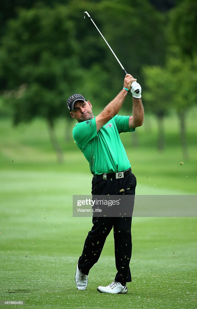 Hennie Otto of South Africa in action during the final round of the South African Open Championship at Glendower Golf Club on November 24, 2013 in Johannesburg, South Africa.