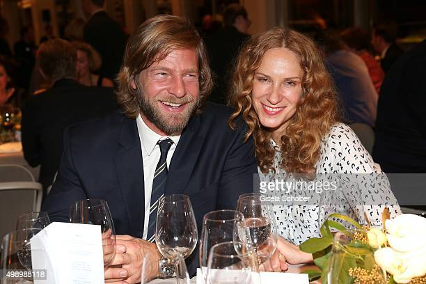 Henning Baum and Chiara Schoras during the ARD advent dinner hosted by the program director of the tv station Erstes Deutsches Fernsehen at Hotel...