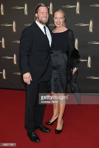 Henning Baum and Corinna Baum arrive for the German TV Award 2012 at Coloneum on October 2 2012 in Cologne Germany