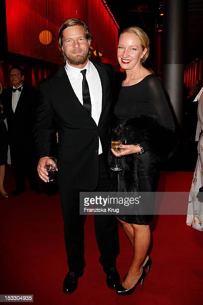 Henning Baum and his wife Corinna Baum attend the German TV Award 2012 at Coloneum on October 2 2012 in Cologne Germany