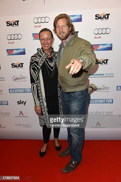 Henning Baum and his wife Corinna Baum attends the Audi Director's Cut at the Praterinsel during the Munich Film Festival at Praterinsel on June 27...