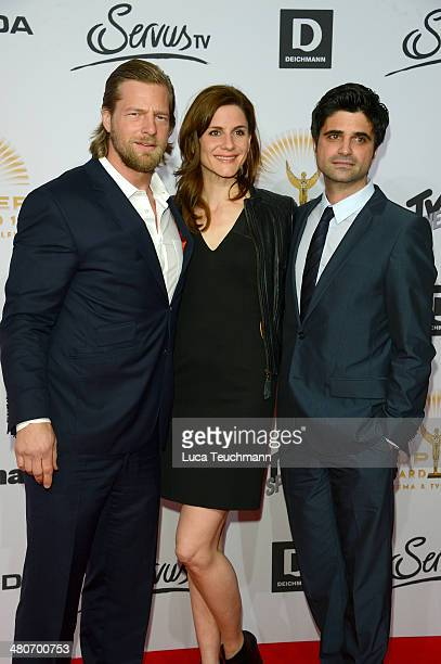 Henning Baum Christina Hecke and Maximilian Grill attend 'Jupiter Award 2014' at Cafe Moskau on March 26 2014 in Berlin Germany