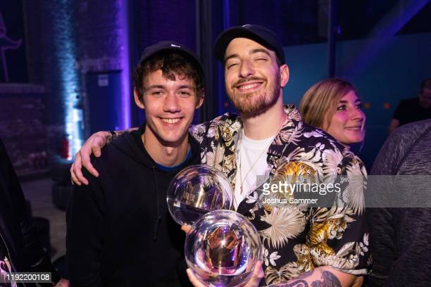 Henning May and Casper are seen during the 1Live Krone radio award at Jahrhunderthalle on December 05 2019 in Bochum Germany