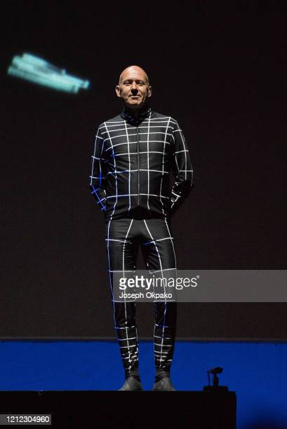 Henning Schmitz from Kraftwerk performs on stage on Day 2 at the fourth edition of Lollapalooza Berlin at Olympiastadion on September 9 2018 in...