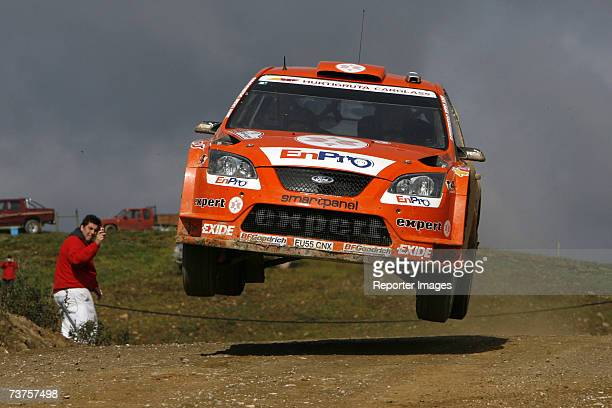 Henning Solberg and Cato Menkerud of Norway compete in the Ford Focus RS during Leg Two of the Rally de Portugal March 31 2007 in Faro Portugal