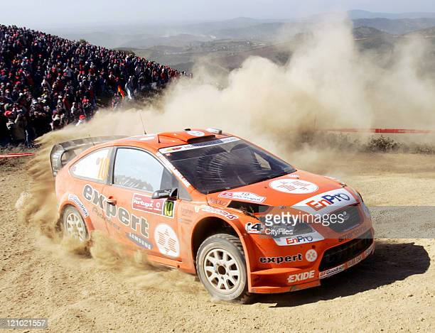 Henning Solberg during the first leg of the 2007 Portugal Rally in Tavira Portugal on March 30 2007