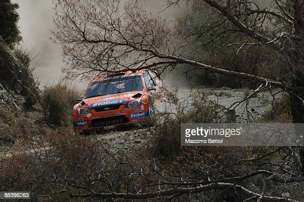 Henning Solberg of Norway and Cato Menkerud of Norway in action in the Stobart Ford Focus during the Shakedown of the WRC FxPro Rally of Cyprus 2009...