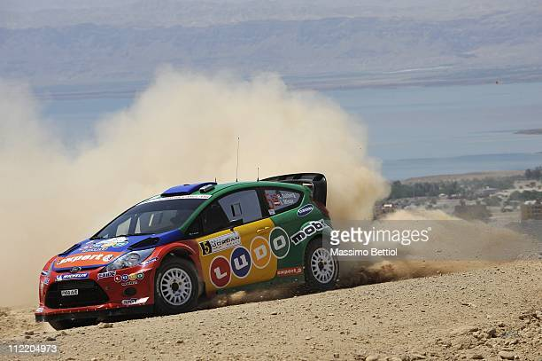 Henning Solberg of Norway and Ilka Minor from Austria compete in their Stobart MSport WRT Ford Fiesta RS WRC during the shakedown of the WRC Rally...