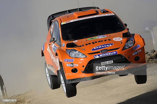Henning Solberg of Norway and Ilka Minor of Austria compete in their MSport Stobart Ford WRT Ford Fiesta RS WRC during Leg2 of the WRC Rally Mexico...
