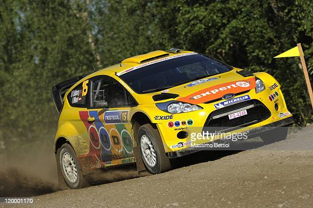 Henning Solberg of Norway and Ilka Minor of Austria compete in their MSport Stobart WRT Ford Fiesta RS WRC during the Shakedown of the WRC Rally...