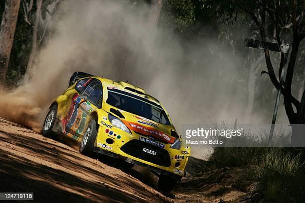 Henning Solberg of Norway and Ilka Minor of Austria compete in their MSport Stobart Ford WRT Ford Fiesta RS WRC during Day3 of the WRC Rally...