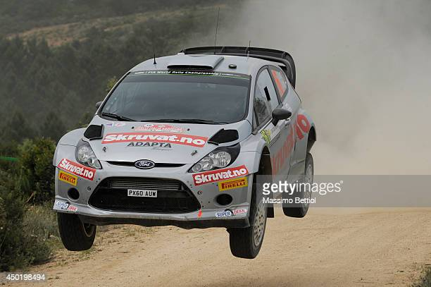 Henning Solberg of Norway and Ilka Minor of Austria compete in their Ford Fiesta RS WRC during Day One of the WRC Italy on June 6 2014 in Olbia Italy