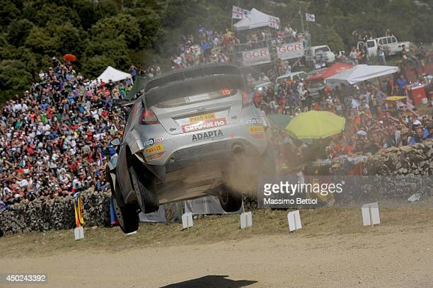 ALGHERO ITALY JUNE Henning Solberg of Norway and Ilka Minor of Austria compete in their Ford Fiesta RS WRC during Day Two of the WRC Italy on June 7...
