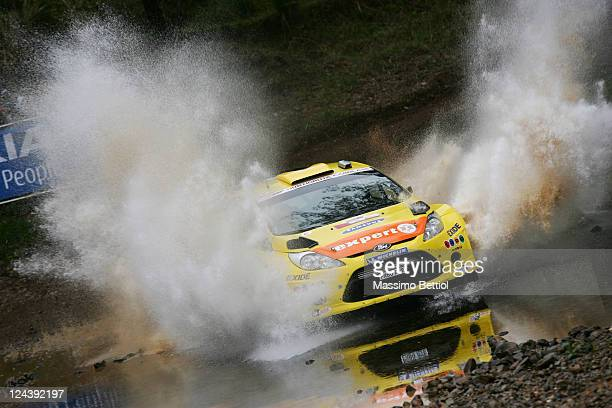Henning Solberg of Norway and Ilka Minor of Austria compete in therir Ford MSport Stobart WRT Ford Fiesta RS WRC during Day1 of the WRC Rally...