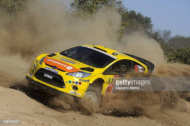 Henning Solberg of Norway and Ilka Minor of Austrian compete in their MSport Stobart WRT Ford Fiesta RS WRC during the Shakedown of the WRC Rally of...