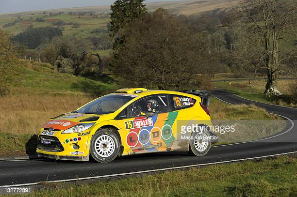 Henning Solberg of Norway and Ilka Minor of Austrian compete in their MSport Stobart WRT Ford Fiesta RS WRC during Day4 of the WRC Wales Rally GB on...