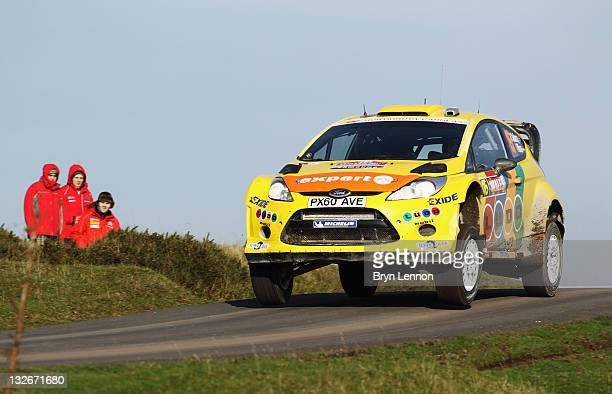 Henning Solberg of Norway and MSport Stobart Ford World Rally Team in action on the Halfway stage on day four of the FIA World Rally Championship...
