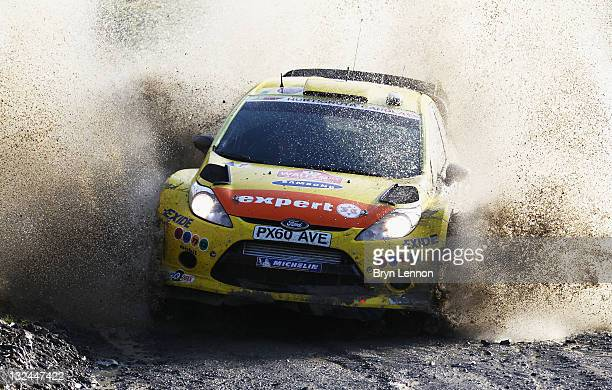 Henning Solberg of Norway and the MSport Stobart Ford World Rally Team in action on the Sweet Lamb stage on day three of the FIA World Rally...