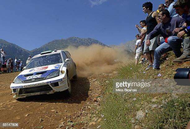 Henning Solberg of Norway in action in his Ford Focus RS WRC 04 during Day Two of the Acropolis Rally of Greece on June 25 2005 in Greece