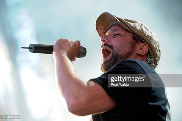Henning Wehland of HBlockx performs during the first day of Rock am Ring on June 03 2010 in Nuerburg Germany