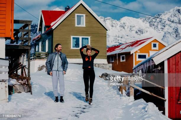 henningsvaer in lofoten islands, norway - village stock pictures, royalty-free photos & images