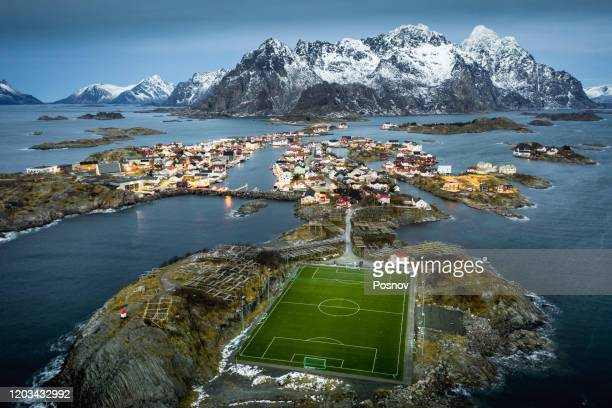 henningsvaer - northern norway stock pictures, royalty-free photos & images