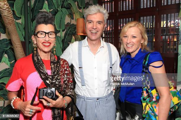 Henny Garfunkel David Byrne and Cindy Sherman attend TARGET and PAPER Host A Private Dinner To Celebrate KIM HASTREITER Receiving her CFDA Eugenia...