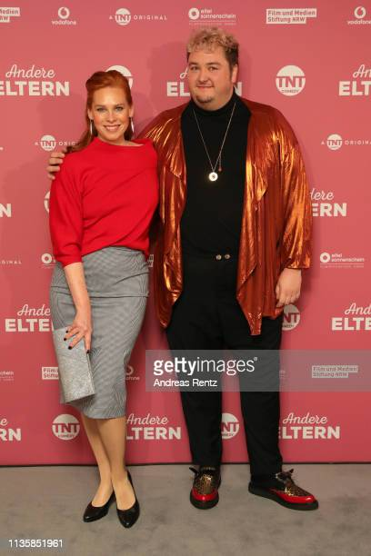 "Henny Reents and Daniel Zillmann attend the premiere of TNT Comedy Original ""Other Parents"" held by TNT Comedy at Residenz Kino on March 14, 2019 in..."