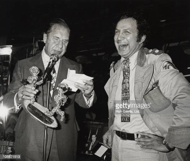 Henny Youngman and Ron Galella during Joe Franklin's Tribute to 25 Years in Broadcasting at Copocabana in New York City New York United States