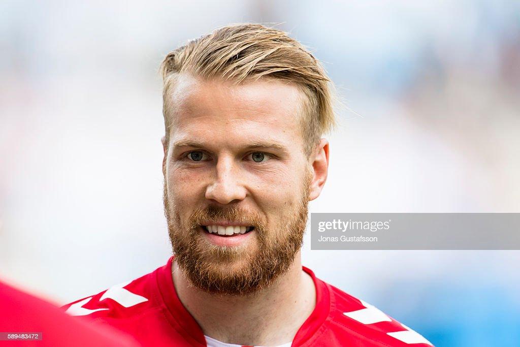 Henri Anier of Kalmar FF during the Allsvenskan match between Kalmar FF and Malmo FF at Guldfageln Arena on August 14, 2016 in Kalmar, Sweden.