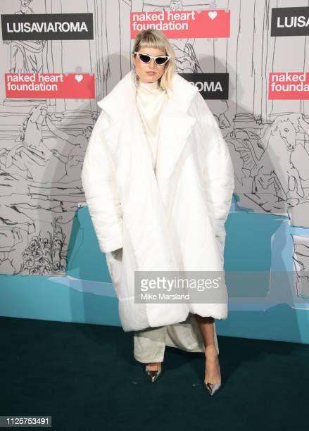 Henri arrives at the Fabulous Fund Fair event during London Fashion Week February 2019 at the The Roundhouse on February 18, 2019 in London, England.