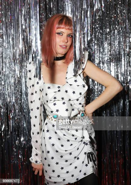 Henri attends the SelfPortrait store opening afterparty at Central St Martins on March 22 2018 in London England