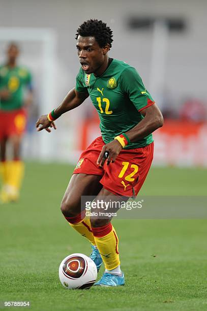 Henri Bedimo of Cameroon during the Africa Cup of Nations match between Cameroon and Gabon from the Alto da Chela Stadium on January 13 2010 in...