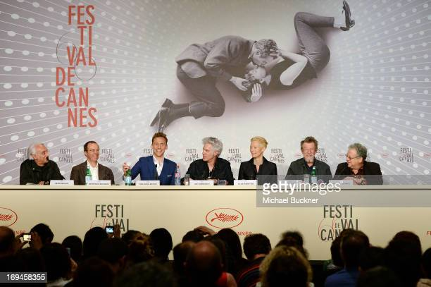 Henri Behar Reinhard Brundig Tom Hiddleston Director Jim Jarmusch Tilda Swinton John Hurt and producer Jeremy Thomasattend the 'Only Lovers Left...