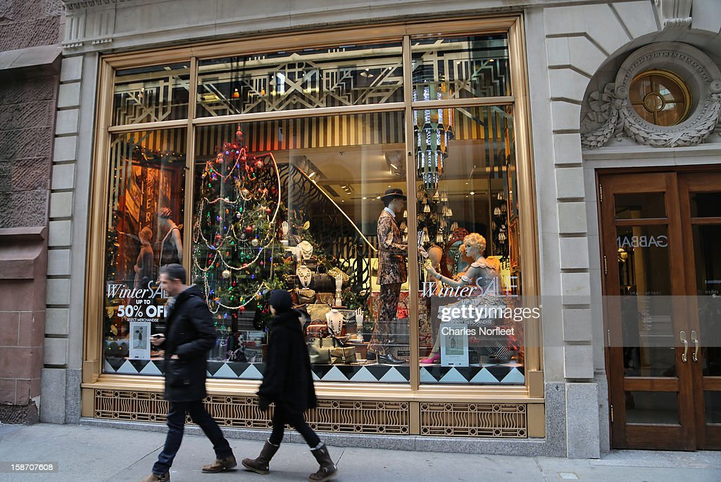 Henri Bendel holiday window dispay on December 24, 2012 in New York City.