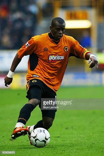 Henri Camara of Wolverhampton Wanderers during the FA Barclaycard Premiership match between Wolverhampton Wanderers and Fulham at the Molineux on...