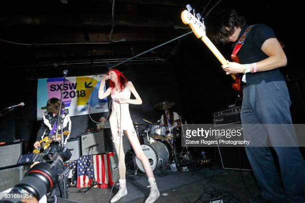 Henri Cash Arrow de Wilde Austin Smith and Tim Franco of Starcrawler perform onstage at the Music Opening Party during SXSW at The Main on March 13...