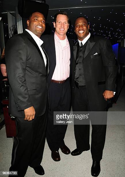 Henri Crockett Danny Kanell and Zack Crockett attend the First Annual Diamond Ball presented by The Crockett Foundation at Clevelander Hotel on...
