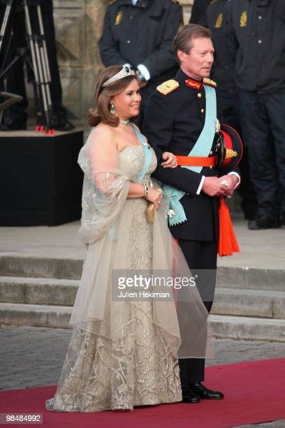 Henri de Luxembourg and his wife attend the Gala Performance in celebration of Queen Margrethe's 70th Birthday on April 15, 2010 in Copenhagen,...