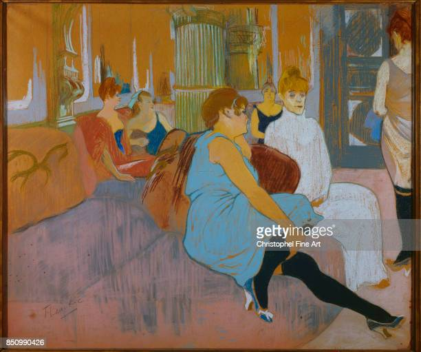 Henri De Toulouse Lautrec In the Salon at the Rue des Moulins Study 1894 Pastel on paper Albi Toulouse Lautrec Museum