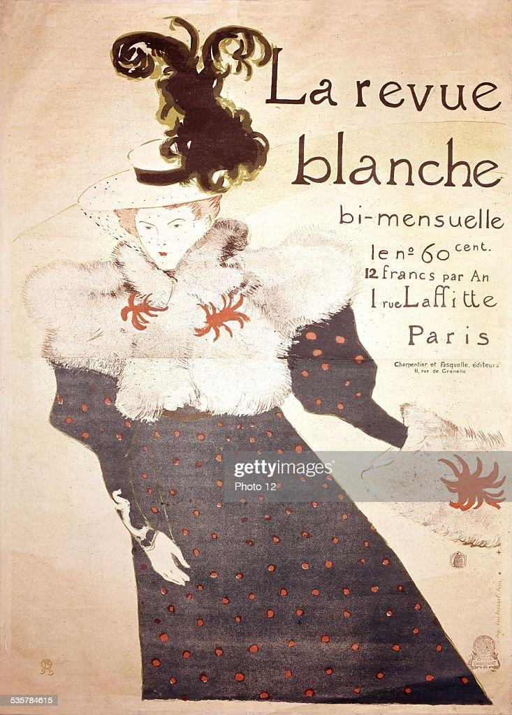 Henri de Toulouse-Lautrec, advertising poster for 'La revue blanche', 19th century.