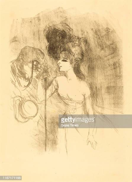 Henri de ToulouseLautrec Anna Held and Baldy lithograph in black on velin paper