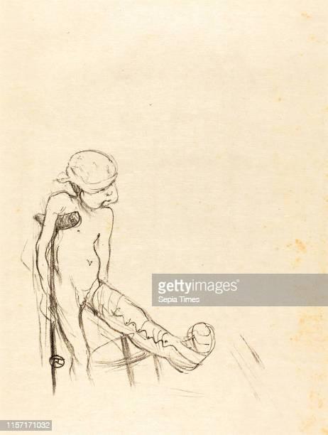 Henri de ToulouseLautrec Wounded Eros lithograph in black on Japan paper